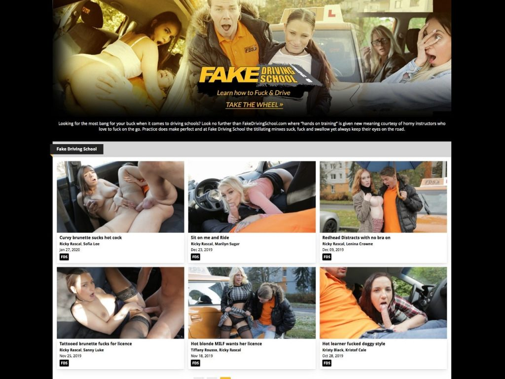 Fake Driving School Home Page