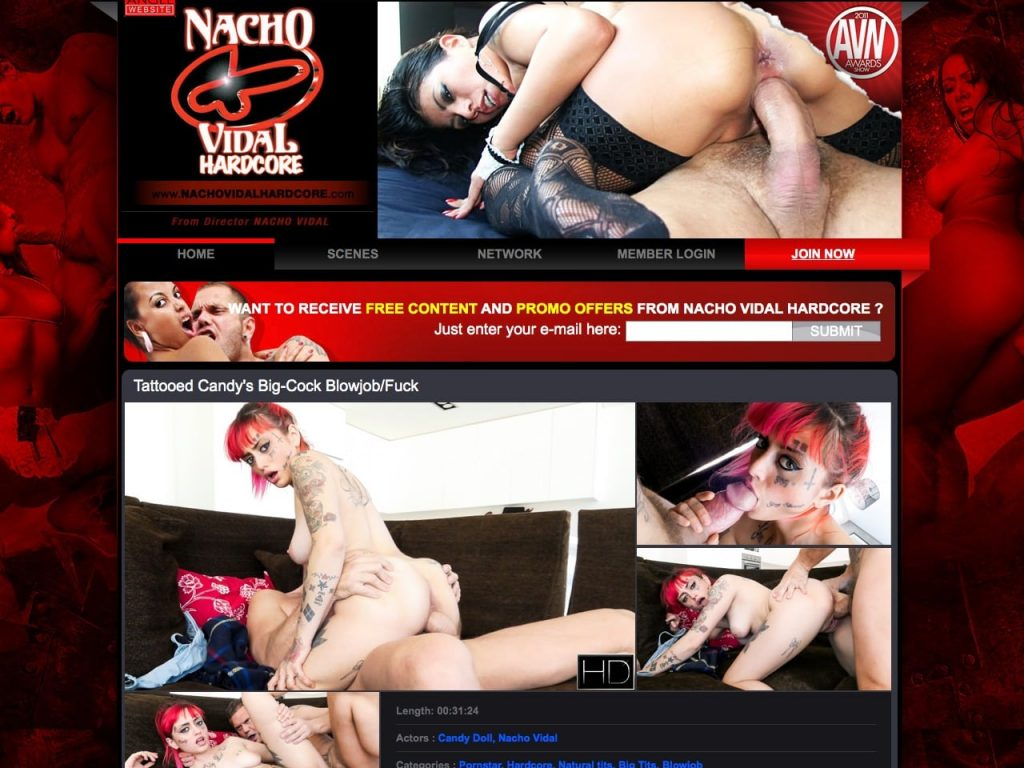 Nacho Vidal Hardcore Home Page